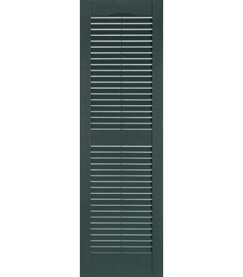 "Premier One-piece Louvered 15"" Economy Shutters"