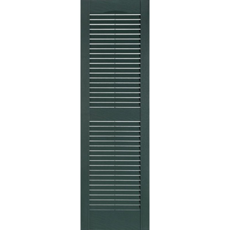 Louvered 15 Quot One Piece Economy Vinyl Shutters