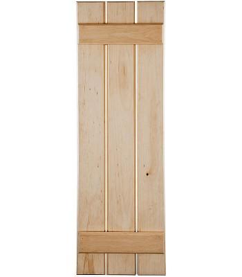 Open Board & Batten Wood Shutters